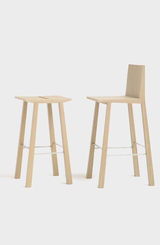 Woody bar stool, Andreu World