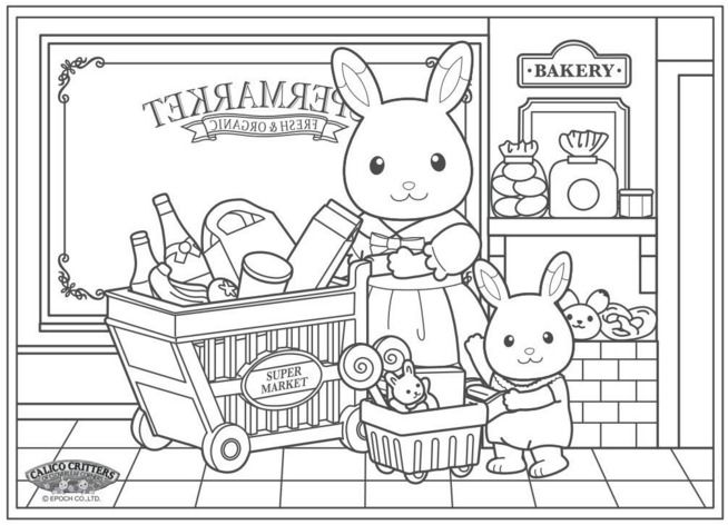 do you know someone who loves to color combine coloring with calico critters and you - Coloring Pages Website