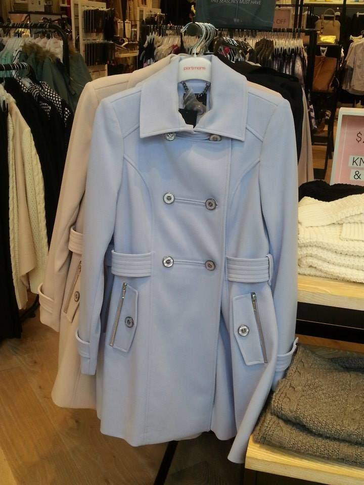 Pretty pastel trench, great for those with fair complexion!