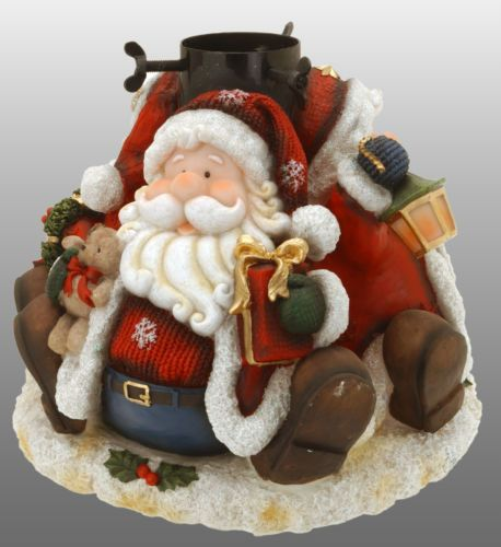 ornate resin santa christmas tree stand 67ft christmas tree stand 35 trunk - Christmas Tree Stands