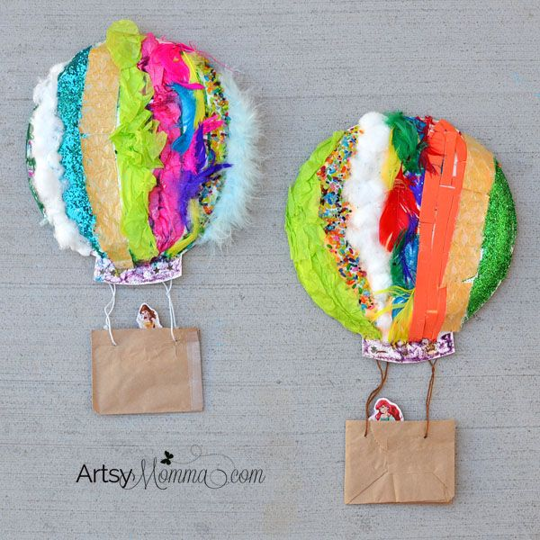Explore the 5 senses with a colorful, textured Paper Plate Hot Air Balloon Sensory Craft!