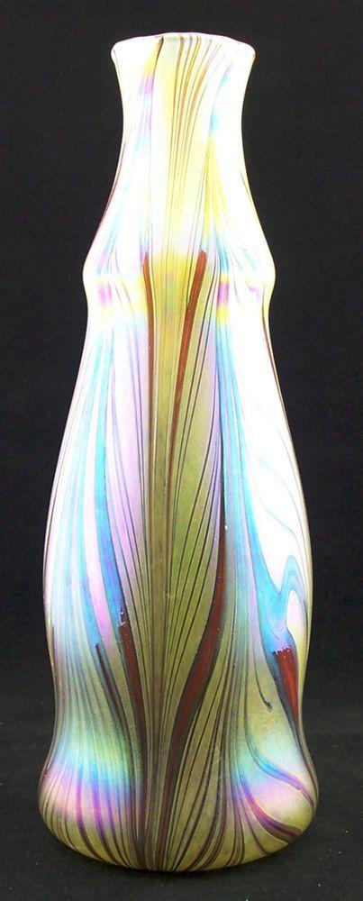 Vase aus Glas-mundgeblasen- im Jugenstil - Art Nouveau - AE189