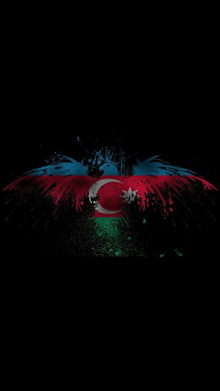 Qartal Və Azərbaycan Bayragi Divar Kagizi Hd Azərbaycan Bayragi Wallpaper Hd Azerbaijani Flag Azerbaijan Flag Flag