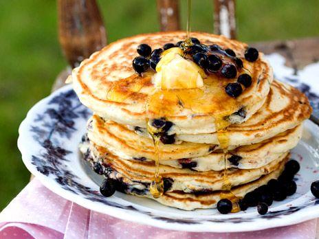 Amerikanska pannkakor med blåbär | Recept från Köket.se