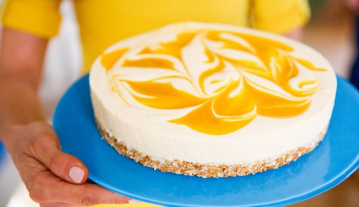 En riktigt frisk och god tårta med mycket smak av mango!