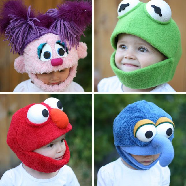 Handmade Muppet Hats: Can you say, muppet babies?! These are too adorable. Thanks to Swiss Miss for the great find.