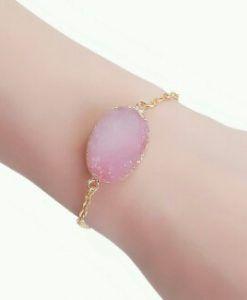 Bracelet or pierre rose