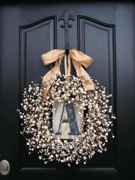 Personalized Wreath-... Isn't this great??~ I think I need to make one for our door!: