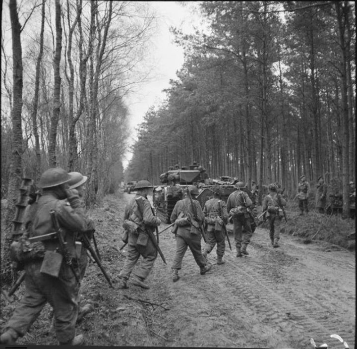 Image result for british soldiers in Reichswald Forest part of the Siegfried Line