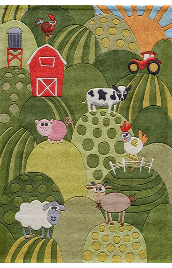 The grandkids would love this.  Would have to add bunnies!  I could call it Nana's Funny Bunny Farm. Rugsusa.com