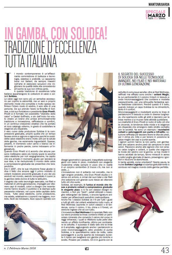 """Su """"Speciale 8 Marzo"""" di Mantova Chiama Garda.  In Gamba, con Solidea! #press #Solidea"""