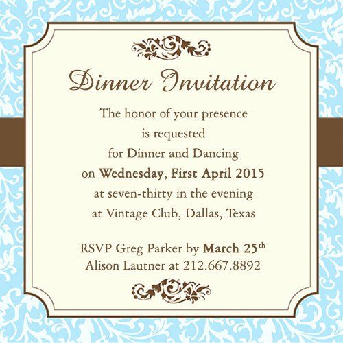 Fab Template: Formal Dinner Invitation Template Lovely Fab Dinner Party