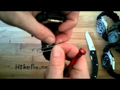 ▶ Ultimate 550 Paracord Survival Watch band install on G-Shock watches seiko casio timex HikePro - YouTube
