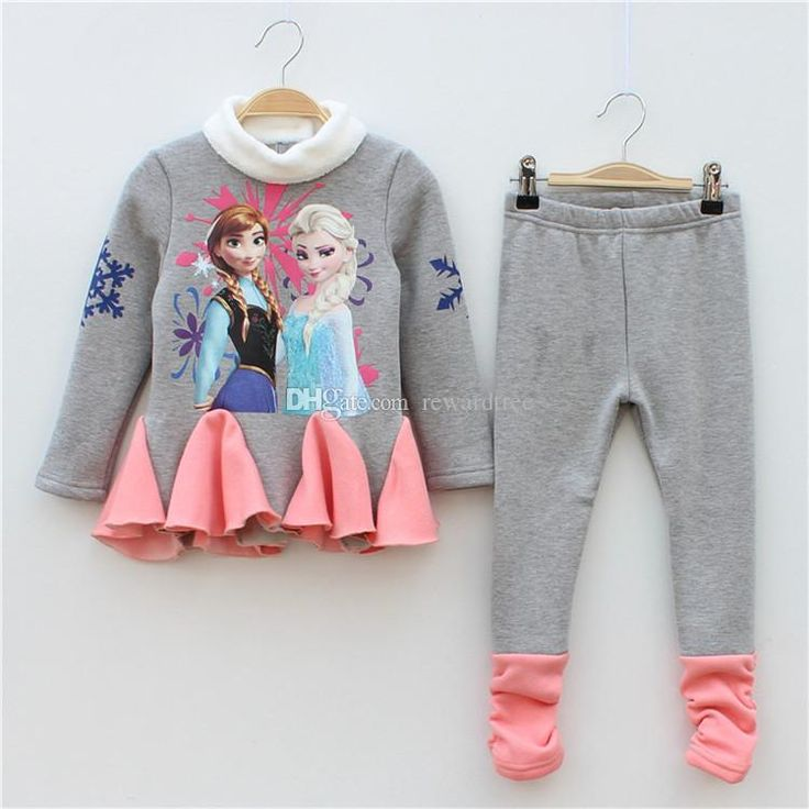 Online Cheap Frozen Winter Autumn Elsa Anna ChildrenS Outfits Sets Shirts Down Coat Kids Thick Long Cotton Padded Clothes Jacket Outwear By Rewardtree