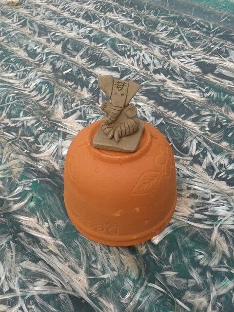 Handmade Terracotta Ganesha Idol