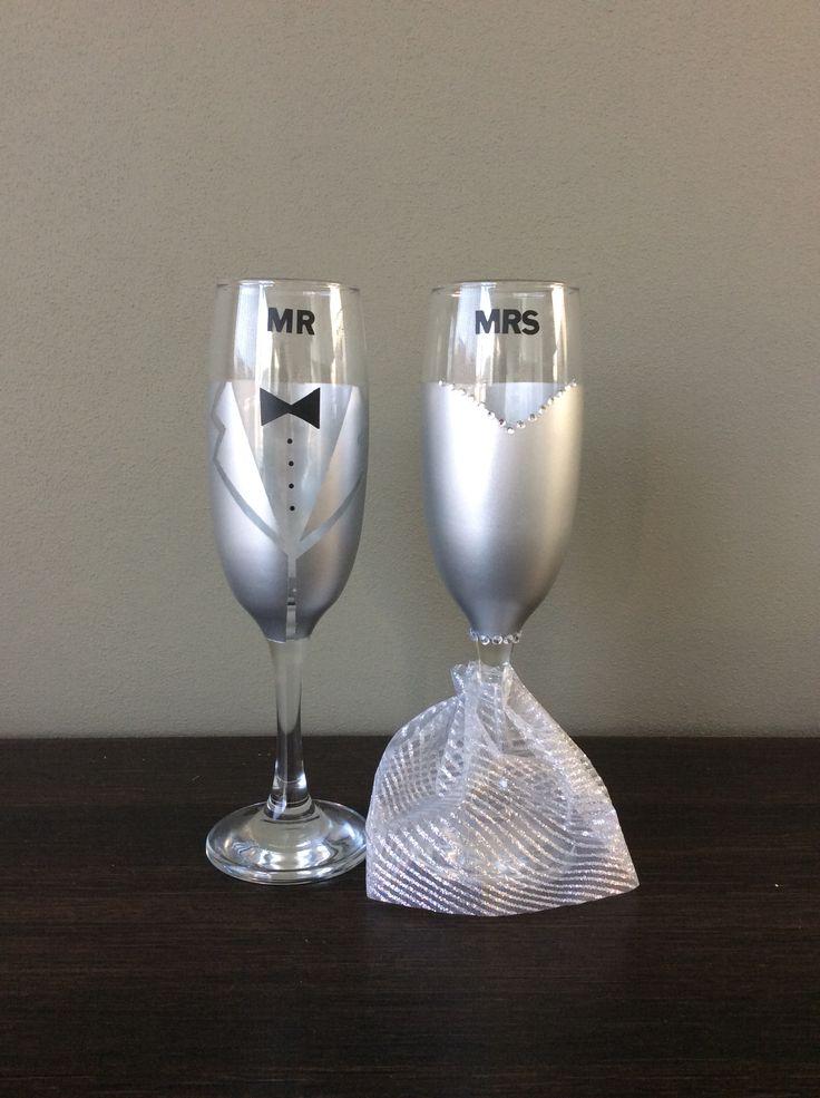 Champagne glazen bruiloft