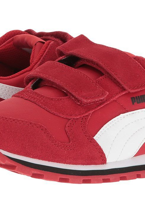 Puma Kids ST Runner NL V PS (Little Kid/Big Kid) (Barbados Cherry/Puma White) Kids Shoes - Puma Kids, ST Runner NL V PS (Little Kid/Big Kid), 36073715-600, Footwear Closed Hook and Loop, Hook and Loop, Closed Footwear, Footwear, Shoes, Gift, - Fashion Ideas To Inspire