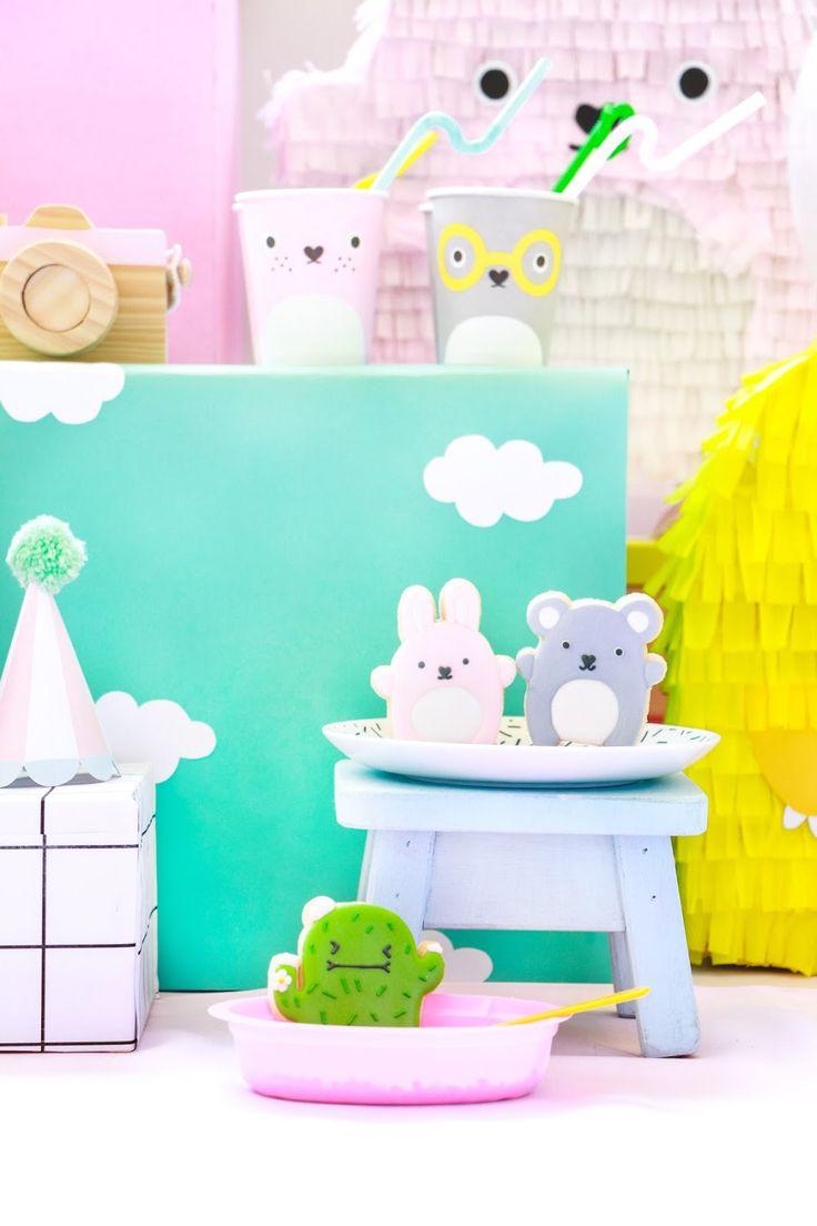 decoração mesa festa aniversário infantil - pet noodoll kids blocks party blog do math
