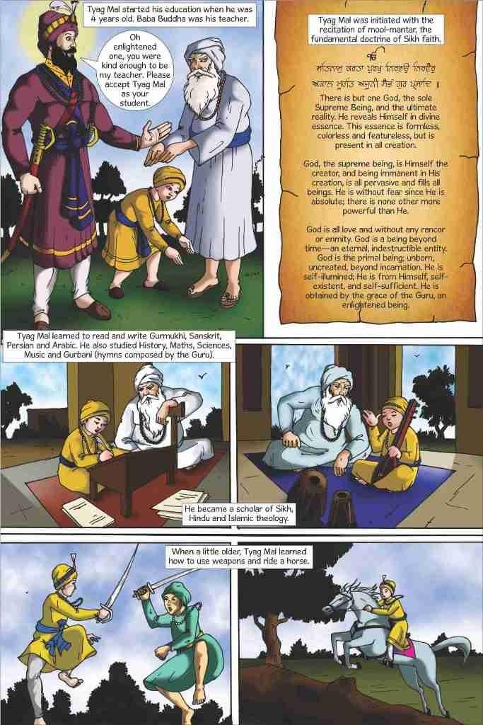 SikhComics.com - Guru Tegh Bahadur - The Ninth Sikh Guru (English Graphic Novel), USD $3.99 (http://www.sikhcomics.com/guru-tegh-bahadur-ninth-sikh-guru/)