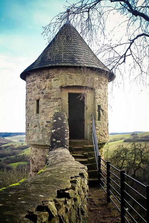 """""""Rapunzel's Tower"""". Castle Tower -- Burg Lichtenburg, near Kusel, Germany"""