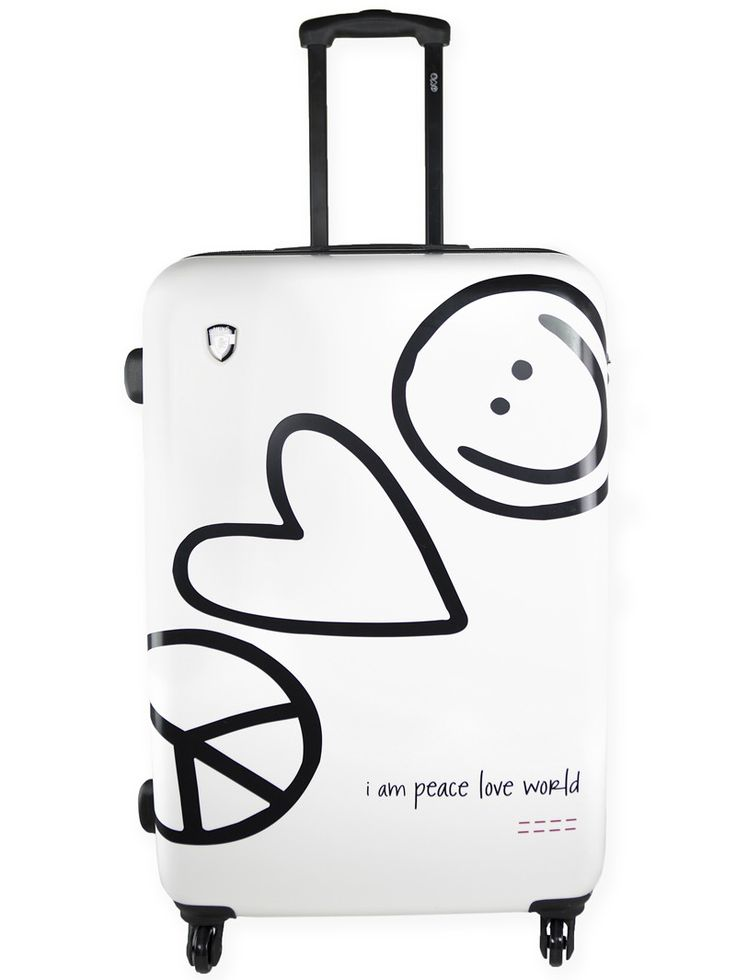 Peace Love World White Hardside  For My Trip Peaceloveworld Plwfestival