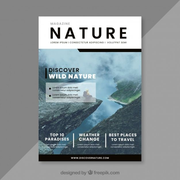 Download Nature Magazine Cover Template For Free Magazine Cover Template Magazine Cover Ideas Cover Template