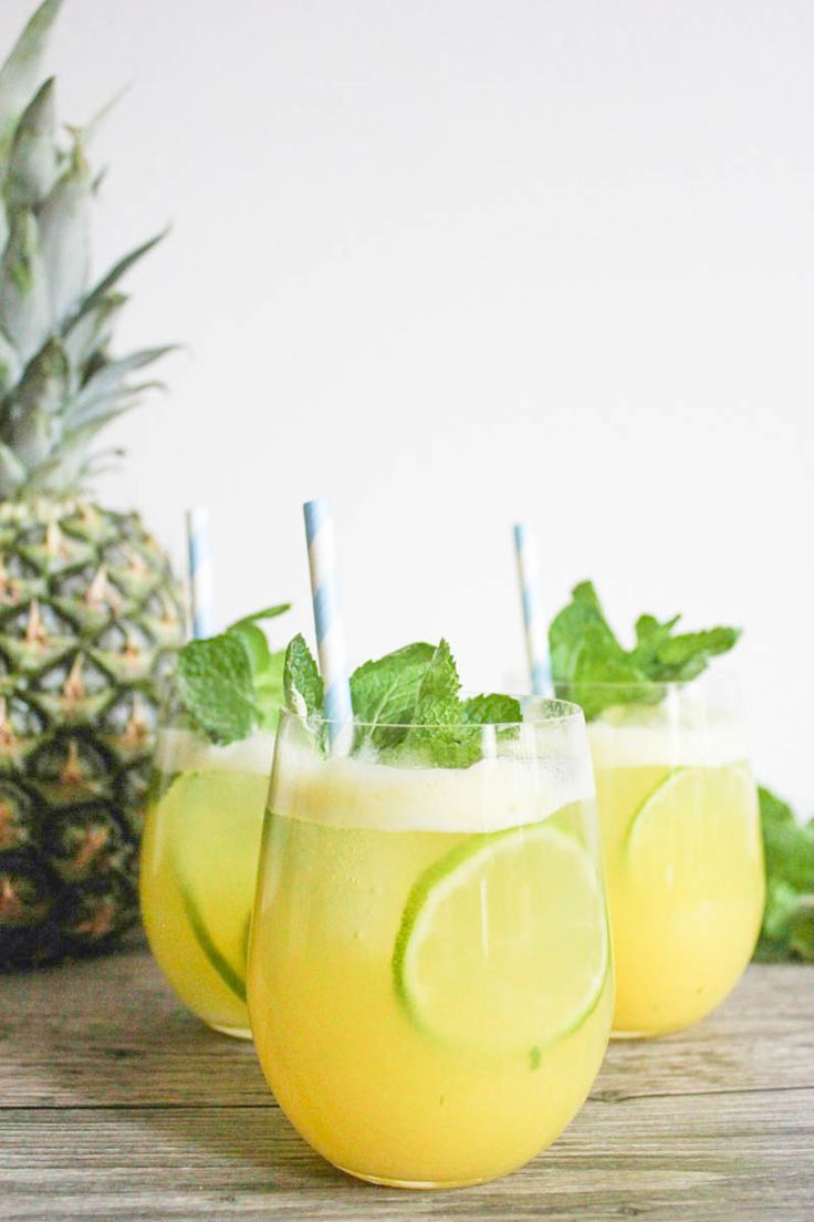 Pineapple-Ginger Mojitos