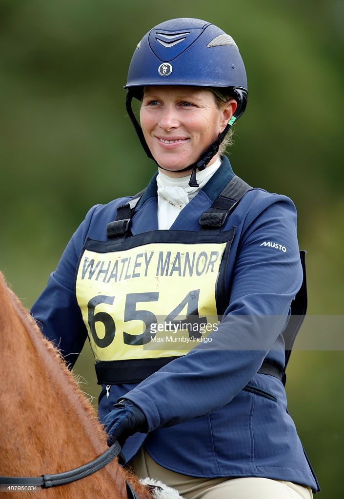 (EMBARGOED FOR PUBLICATION IN UK NEWSPAPERS UNTIL 48 HOURS AFTER CREATE DATE AND TIME) Zara Philips warms up prior to competing in the show jumping phase of the Whatley Manor International Horse Trials at Gatcombe Park on September 12, 2015 in Stroud, England. (Photo by Max Mumby/Indigo/Getty Images)