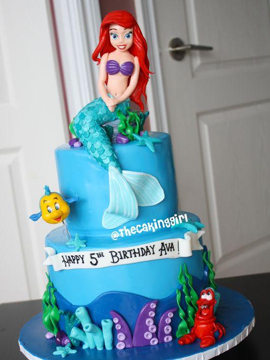 306 best Disneys Little Mermaid Cakes images on Pinterest Little
