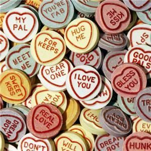 LOVE HEARTS/Retro Sweets - great Valentine Day treat for romantics :-)