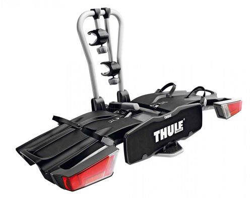 The Thule Easy Fold platform hitch bike rack is designed to transport electric bikes and heavy downhill mountain bikes.A 3 point bike fastening system provides maximum bike stability during transport.