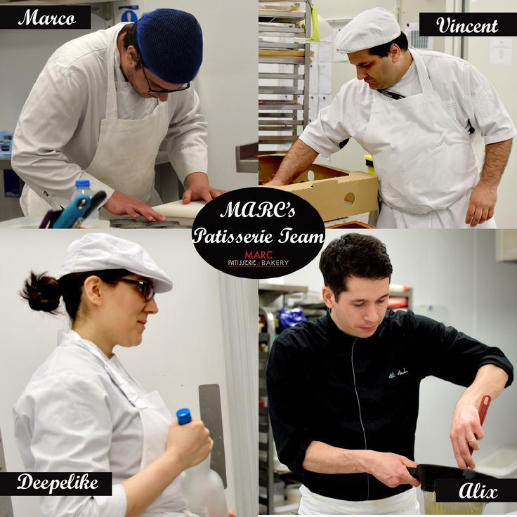 The Patisserie Team who create all the patisserie you see on this board #Patisserie #MARCPatisserie&Bakery #TheMARCTeam #UK #PastryChefs
