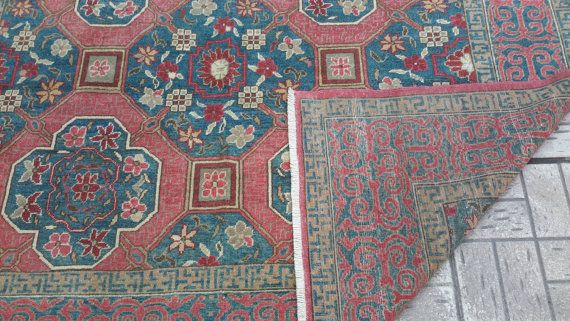Turkish handmade carpet. Oushak rug.100% wool old by turkishrugman