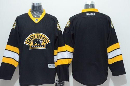 "$34.88 at ""MaryJersey""(maryjerseyelway@gmail.com) Bruins Blank Stitched Black Third NHL Jersey"