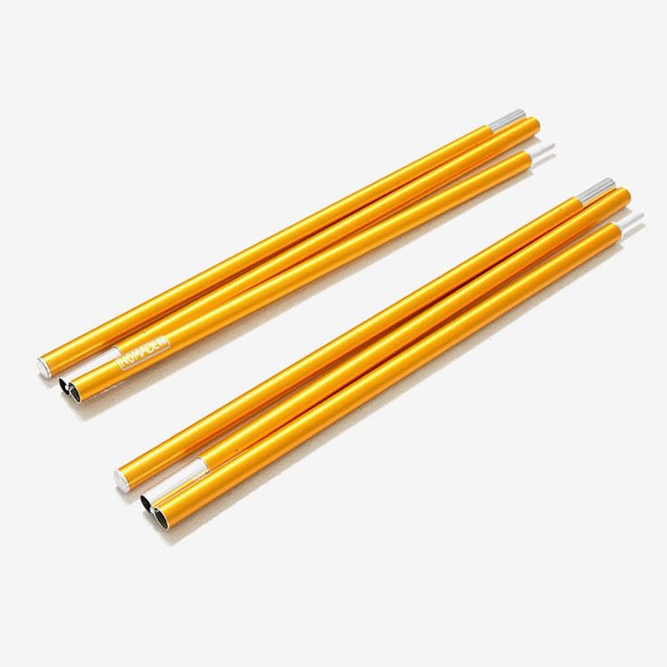"NOMADE Tarp Poles Gold x 2 (8.66 x 236 x 1.18"") Tent Camping Outdoor Gear  #NOMADE"