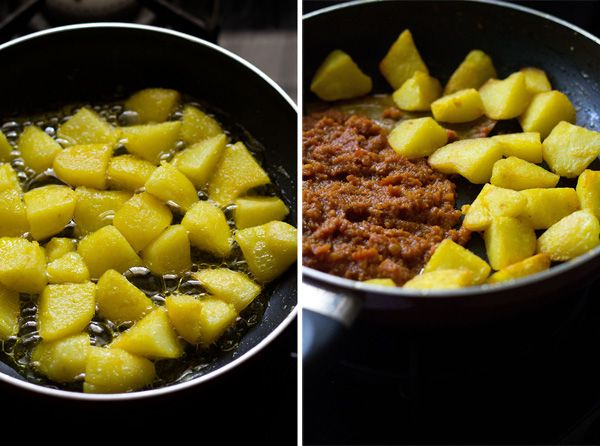 bengali dum aloo recipe, how to make bengali style dum aloo recipe