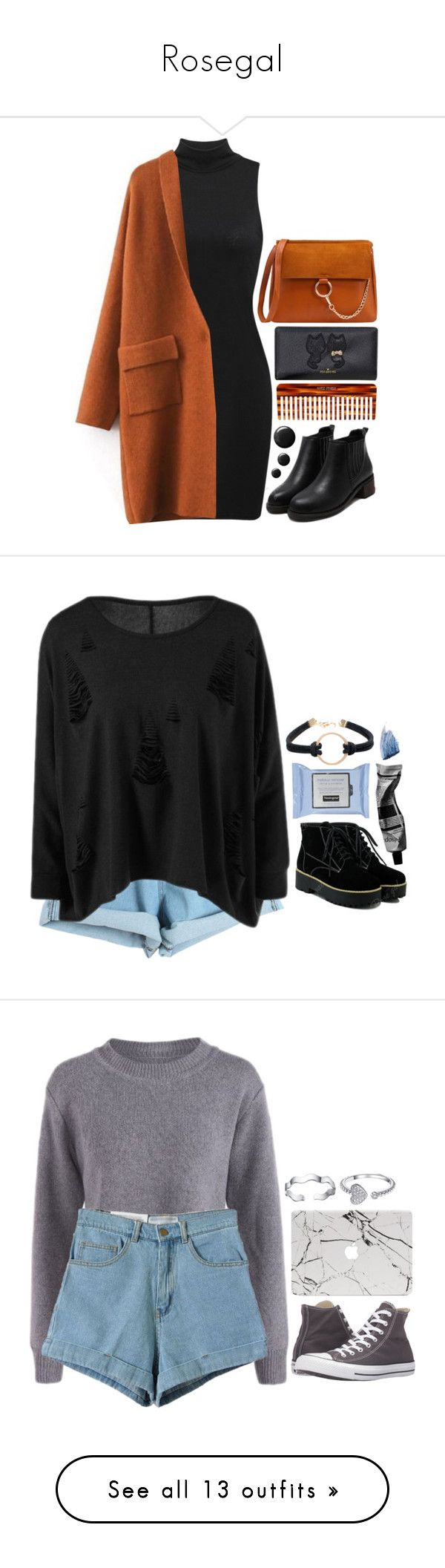 """""""Rosegal"""" by emilypondng ❤ liked on Polyvore featuring Mason Pearson, orangecrush, Chicnova Fashion, Aesop, Sisley, Converse, Zara, Vans, Casetify and H&M"""