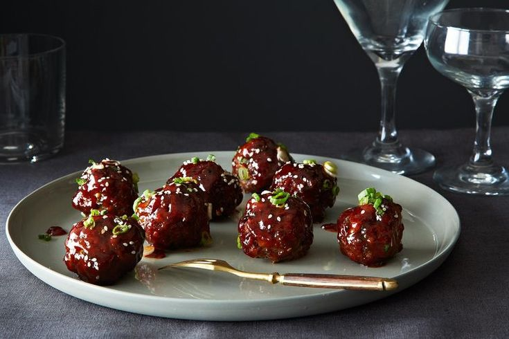 // Spicy Korean-Style Gochujang Meatballs