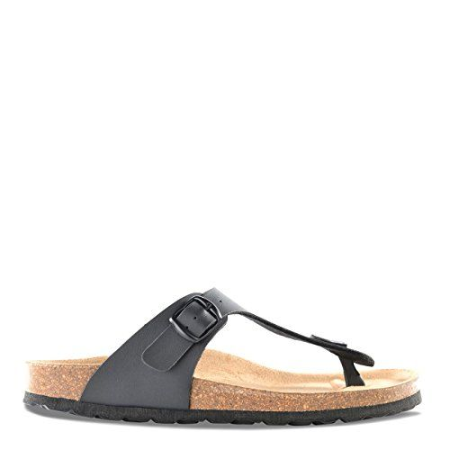 Roberto Durville Paris  Dany Womens Black Synthetic Flat Sandals 42 M EU >>> You can get additional details at the image link.