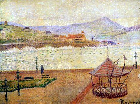 Darío de Regoyos y Valdés - Die Promenade von Alderdi Eder