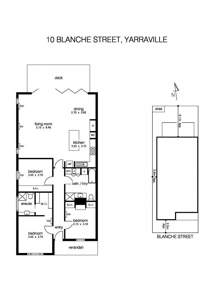 10 Blanche Street, Yarraville, Vic 3013 - floorplan