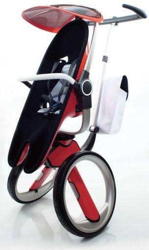 電車持ち込みが楽! コンパクトな2輪ベビーカー「Buggy Stroller」―ダイニングチェアとしても