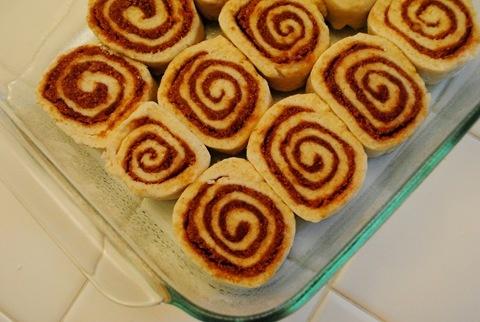 No yeast cinnamon rolls-yum!