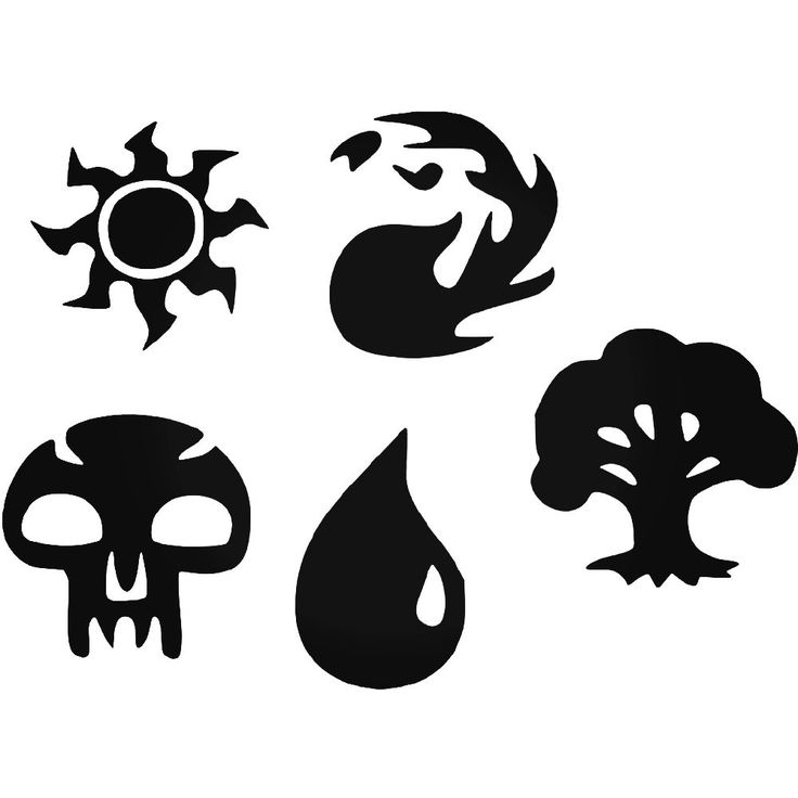 Magic The Gathering Mtg Set Vinyl Decal Sticker  BallzBeatz . com