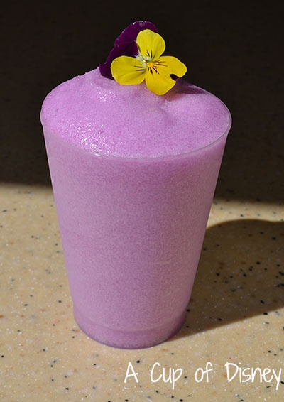 Frozen Desert Violet Lemonade - $2.50 - Pineapple Promenade stall at Epcot's Flower & Garden Festival  My absolute favourite Disney drink (had to repin a photo since I drank mine before taking a photo).