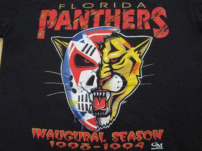 SICK LOGO!! 1993 vtg FLORIDA PANTHERS hockey mask T SHIRT nhl LARGE
