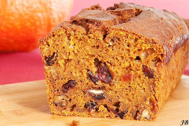 Carolines blog: Pompoencake met gedroogde cranberries, witte chocolade en pecannoten Tevens recept van pompoenpuree