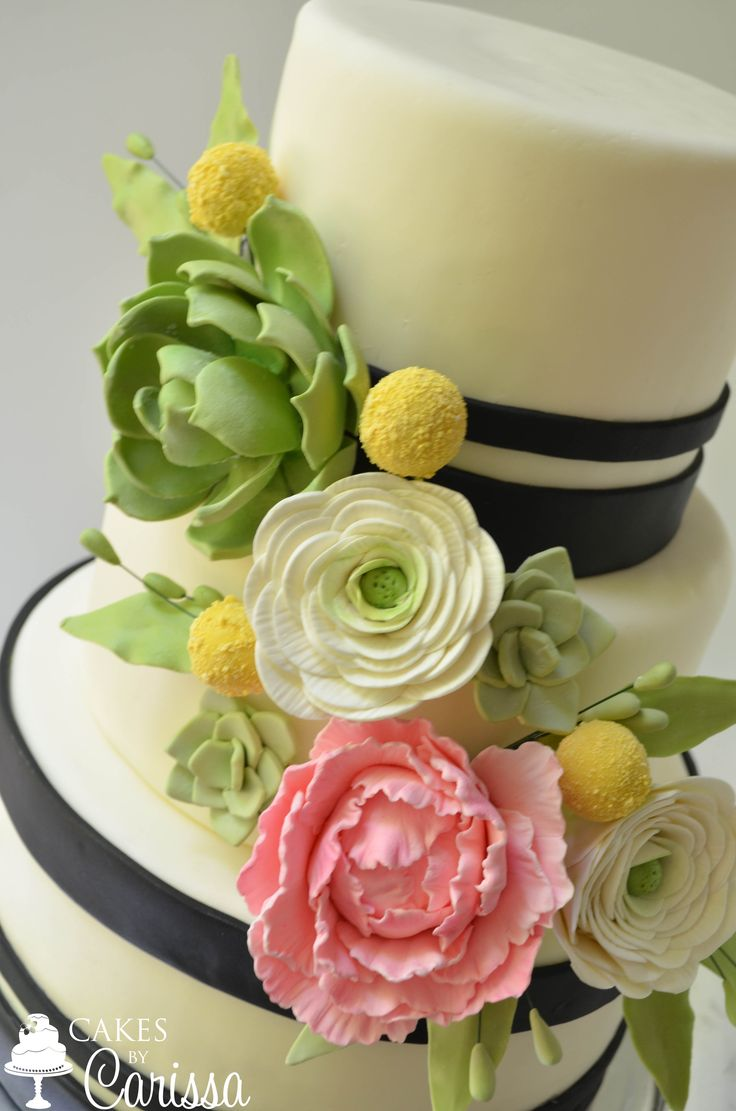 55 best Wedding Cakes images on Pinterest | Custom cake, Vanilla ...