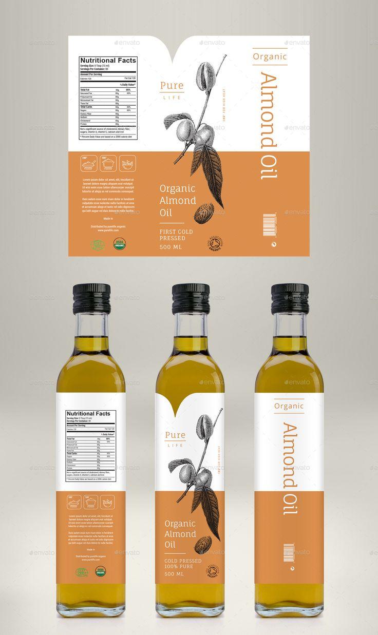Avocado Oil, Coconut Oil & Almond Oil Label Preview