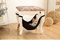 Katzen-Hängematten-Bett - weiche warme und bequeme Haustier-Hängematte Gebrauch mit Stuhl für Kätzchen, Frettchen, Welpe oder kleines Haustier